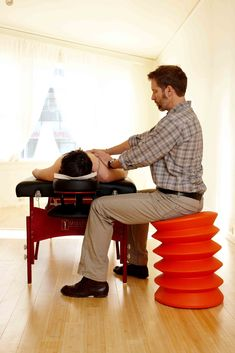 ErgoErgo chair, haven't tried it yet since I read some reviews of them leaking air after a few months, but still like the idea.
