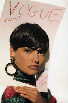 Linda Evangelista by Arthur Elgort, fromArthur Elgort's Models Manual(Art Pub Inc, 1992)