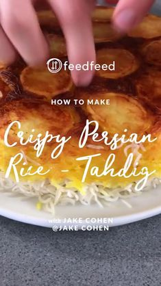 The rice is right thanks to our Jake Cohen! If you've never experienced the beauty of this crispy Persian rice, or tahdig, perfumed with saffron and butter, you're in for a real treat. This version is layered with sliced potato for carbs…Read Biryani Recipe, Rice Recipes, Cooking Recipes, Cooking Rice, Cooking Games, Potato Recipes, Lunch Recipes, Vegetarian Recipes, Side Dishes