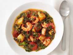 Get Shrimp and Chorizo Stew Recipe from Food Network