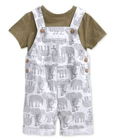 First Impressions Baby Boys' T-Shirt & Elephant Shortall Set Only at Macy's - Shop All Baby - Kids & Baby - Macy's Baby Boy Fashion, Toddler Fashion, Toddler Outfits, Baby Boy Outfits, Kids Outfits, Kids Fashion, Fashion Tips, Baby Boys, Baby Boy T Shirt