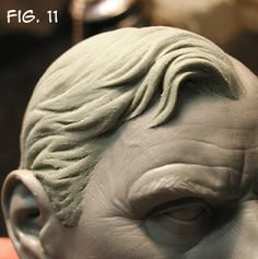 Casteline Clay Hair Sculpting Tutorial by Andy Bergholtz (this is traditional sculpting, not polymer or air-dry)