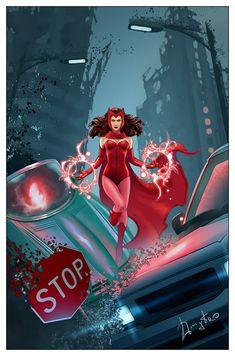 Scarlet Witch by Dmytro Shevchenko - Marvel Universe Marvel Comics Art, Marvel Heroes, Marvel Avengers, Captain Marvel, Marvel Women, Marvel Girls, Comic Book Characters, Marvel Characters, Scarlet Witch Comic