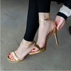 Summer 2014 new European women's shoes 4 mixed PU leather sandals OL commuter heel sandals lady's pumps size 34-39   $106.25