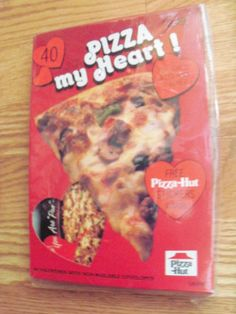 1985 Pizza Hut 40 Valentines Classroom Exchange Cards Pizza My Heart w Stickers