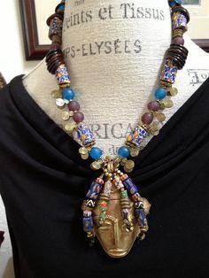 Ada...African trade beads van RedShoesDancing op Etsy