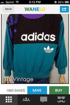 vintage adidas crew neck Tomboy Fashion, 80s Fashion, Sport Fashion, Vintage Fashion, Adidas Crew Neck, Vintage Sportswear, Mode Vintage, Vintage Adidas, Vintage Outfits