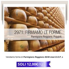 We sell forms of Parmigiano Reggiano 46/48 months D.O.P. only 12 € per kg. For info: t. 059 783155. #CaseificioPoggioli #parmigianoreggianoDOP #lattedop #highquality #milk