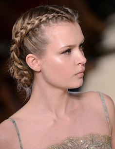 Runway Haute Couture - Elie Saab French Braid #love