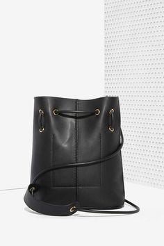 Paradigm Vegan Leather Bucket Bag - Black - Bags + Backpacks   Back In Stock   Back In Stock