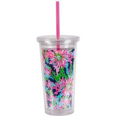 Lilly Pulitzer Travel Tumbler ($15) ❤ liked on Polyvore featuring home, kitchen & dining, drinkware, trippin and sippin, bpa free tumbler, lilly pulitzer, acrylic drinkware, bpa free acrylic tumblers and lilly pulitzer tumbler