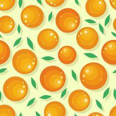 Orange Fruit Seamless Pattern by robuart on @creativemarket
