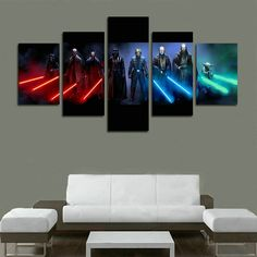 Jedi And Sith Star Wars Canvas Wall Art - The Best Star Wars Wall Art #home #decor #wallart #art #starwars @ https://starwargift.com/best-star-wars-wall-art/