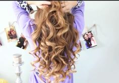 Gorgeous curls using the NuMe curling wand. @Meredith on YouTube