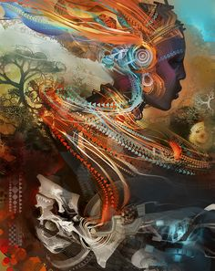 Hope Maasai | Android Jones Android Jones, Psy Art, Ghost In The Shell, Visionary Art, Psychedelic Art, Painting & Drawing, Design Art, Graphic Design, Fantasy Art