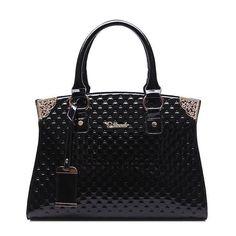Genuine Leather Handbag Embossed Vintage