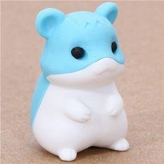 "cute blue hamster eraser from Japan by Iwako by Iwako. $0.01. by Iwako. very good quality. kawaii eraser from Japan. Import from Japan. size: 3cm (1.2""). cute Japanese eraser"