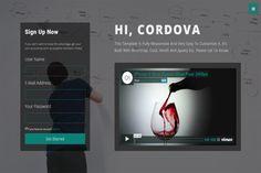 Cordova-Responsive One Page Template by Script Eden on @creativemarket
