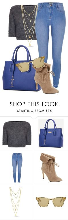 """""""¿Guess Who's Back?"""" by p-0b ❤ liked on Polyvore featuring James Lakeland, River Island, 424 Fifth and Oliver Peoples"""