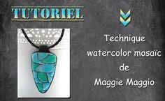 tuto fimo/polymère watercolor mosaic + petite astuce.