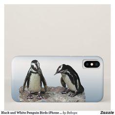 Black and White Penguin Birds iPhone X Case