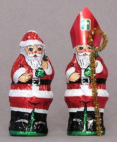 St. Nicholas Center ::: Turn Santa into Nicholas-Miter Pattern for Chocolate Santa-St. Nick