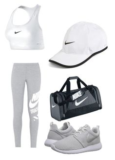"""""""HELLO NIKE!!!"""" by misstwinkletoes04 ❤ liked on Polyvore featuring NIKE"""