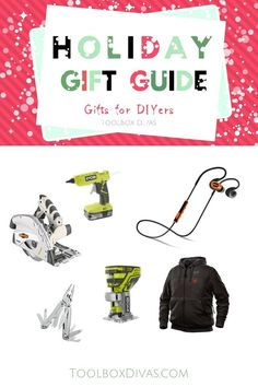 Gift Guide. Looking for the perfect gift this holiday?  Check out these affordable gifts for the special DIYers in your life.  Christmas gift ideas, Gift ideas for the Do it yourself, handyman, handy woman @Toolboxdivas #DIY #Giftguide #Giftideas #Christmas #Christmasgiftsideas #Handyman #Handywoman #ToolboxDivas via @Toolboxdivas