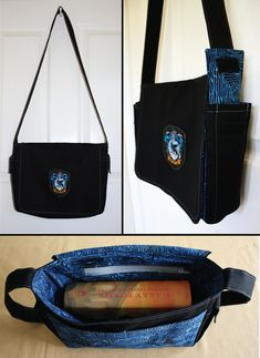 One of the book bags I make - Ravenclaw (my house!)