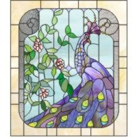 Simple Stained Glass Peacock ... #stainedglass #glassart