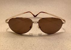 Vintage Rodenstock Sonnenbrille 60 [] 14 Gold Tortuga Germany no Ray Ban