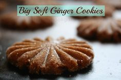 Big, soft ginger cookies.