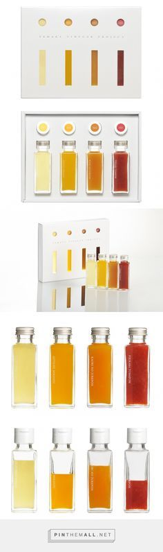 YAMAKA VINEGAR PROJECT via SHIROKURO curated by Packaging Diva PD. 詳細/ビネガー4本セットのパッケージ. Just lovely packaging.