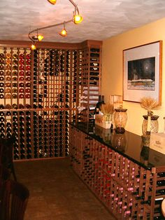Our finished wine racks in a restaurant. Find more at WineRacks.com