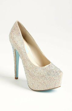 Blue by Betsey Johnson Sparkly Ivory Blue wedding  'Wish' Pump   Nordstrom