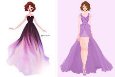 Em 2012, a Disney apostou numa parceria com alguns designers para que recriassem os vestidos das Princesas para a Harrod's. Em um caminho parecido, a artistaPauline resolveu desenhar as Princesas Disney com vestidos de estilistasfamosos. São ilustrações lindas, super delicadas e detalhadas, recriando vestidos maravilhosos. Infelizmente a artista não divulgou as imagens em tamanho grande e nem contou de quem é cada look. Sabemos apenas que amaioria dos vestidos são...