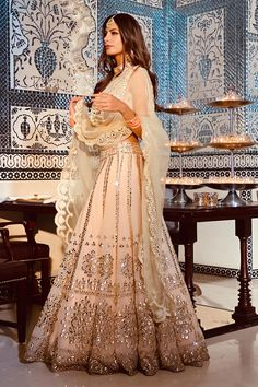 Shop Abhinav Mishra Embroidered Lehenga Set , Exclusive Indian Designer Latest Collections Available at Aza Fashions Indian Fashion Dresses, Indian Bridal Outfits, Indian Gowns Dresses, Indian Bridal Fashion, Dress Indian Style, Indian Wedding Clothes, Indian Wedding Sarees, Wedding Lehenga Designs, Indian Wedding Wear