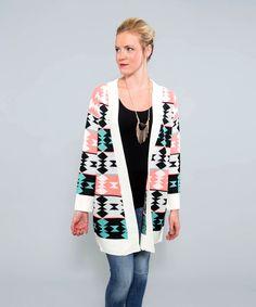 Neon Navajo Sweater Cardigan *Pink, $57 - AMaVo