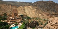 Evason Ma'In Hot Springs & Six Senses Spa sits in a rocky ravine 864 feet below sea level, just minutes from the Dead Sea, close to Jordan's capital, Amman, and a couple of hours from Petra Oh The Places You'll Go, Places To Travel, Travel Destinations, Places To Visit, Senses Spa, Hot Springs, Hotels And Resorts, Time Travel, Adventure Travel