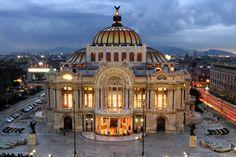 Palacio de Bellas Artes - where murals by Rivera, Siqueiros, and Tamayo reside.