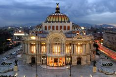 Palacio de Bellas Artes - where murals by Rivera, Siqueiros, and Tamayo reside.