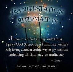 80 best wiccan law images on pinterest witchcraft wiccan spells affirmation manifest manifestation law of attraction magick magic prayer fandeluxe Image collections