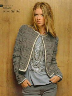 Bergere de France knitting patterns, Bergere de France Irish Knit Mag 159, Short Jacket, from Laughing Hens