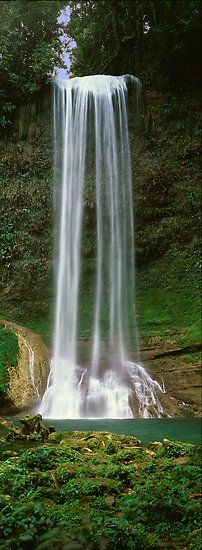 Tenaru Waterfall - Solomon Islands  Oh how I would love to see myself swimming in the water below the falls
