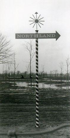 Alvin Lustig, Northland Shopping Center signage, 1954