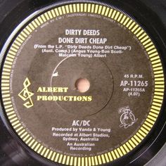 Dirty Deeds Done Dirt Cheap AC/DC 1976