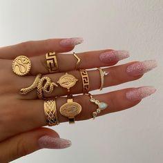 women rings wedding ring set womens rings jewelry punk snake ring natural stone statue Buddha bohemian 's ring anillos Cute Jewelry, Jewelry Box, Jewelry Rings, Jewelery, Vintage Jewelry, Jewelry Accessories, Fashion Accessories, Fashion Jewelry, Women Jewelry