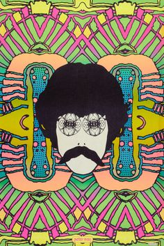 Psychedelic Self Portrait Peter Max (1968)  He did some great posters of the era