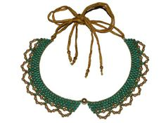 Turquoise Lace Collar Necklace Kit from Nosek's Just Gems