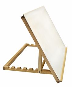 Large Easel with Plexiglass - This solidly made table-top drawing table works as a portable, compact slant board and as a lightbox when a lightsource is added beneath the plexiglass. Durably constructed of smoothly finished wood, our easel features seven settings for your choice of angles.
